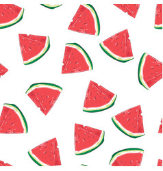 seamless pattern watermelon slices vector image
