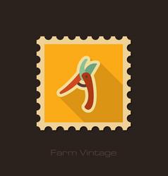 Secateurs pruner averruncator retro flat stamp vector