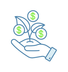 seed money color icon vector image