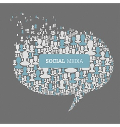 social speech bubbles vector image