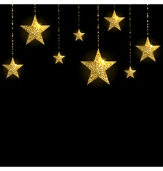 Sparkling Gold Stars vector image