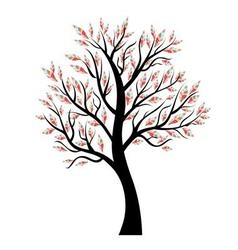 Stylized tree with colorful leaves vector image