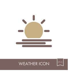 sun heat icon meteorology weather vector image