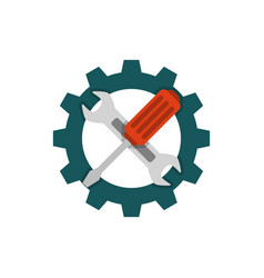 Technical support flat icon vector