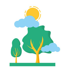 trees nature sky vector image