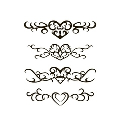 Tribal tattoo stencil vector image