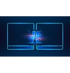 Versus screen design vector