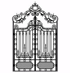 Vintage metal gate vector