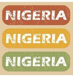 Vintage Nigeria stamp set vector