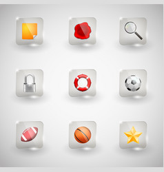 Website internet icons vector