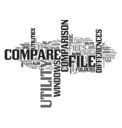Windows file compare utility text word cloud vector
