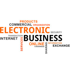 Word cloud - electronic business vector