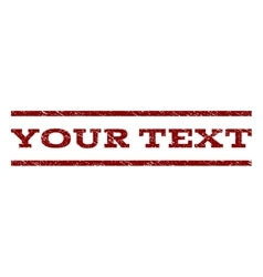 Your Text Watermark Stamp vector