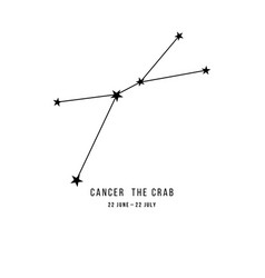 Zodiac constellation cancer vector
