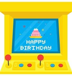 Arcade machine cake birthday vector image
