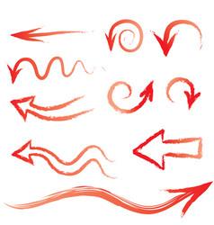 Arrow set doodle hand drawn design elements set vector