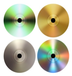 CD DVD discs vector image