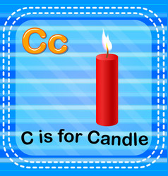Flashcard letter c is for candle vector