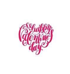 happy valentines day handwritten lettering on vector image vector image