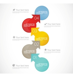 Infographic template vector image vector image