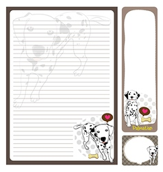 paper note Dalmatian vector image