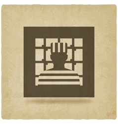 prisoner in jail justice symbol old background vector image vector image