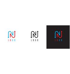 modern monogram letter n logo vector image vector image
