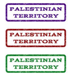 Palestinian territory watermark stamp vector