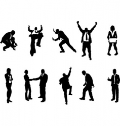 concept busniess people silhouettes vector image
