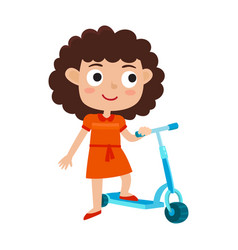 cute concept of little girl vector image vector image