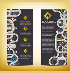 industrial manufacturing vertical banners vector image vector image