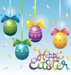 Easter Eggs Hanging Decorate vector image vector image