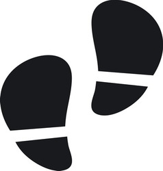 Footsteps resize vector image