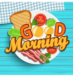 Good morning vector image