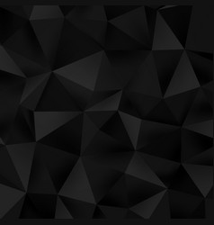 abstract low poly triangle black texture vector image