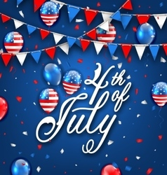 American Celebration Background for Independence vector image