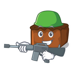 Army brownies character cartoon style vector