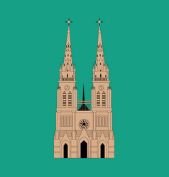 basilica of our lady of lujan vector image