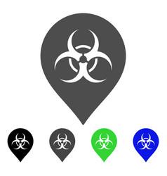 biohazard marker flat icon vector image