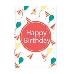 Birthday pink card image vector