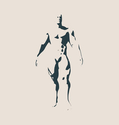 Bodybuilder silhouette isolated vector