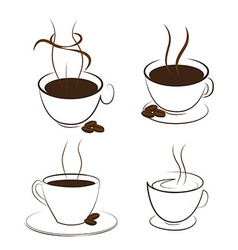 Coffee and smoke vector