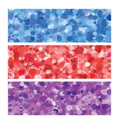 Colored bubbles header set vector