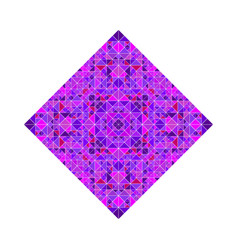 Colorful ornate geometrical abstract tiled mosaic vector