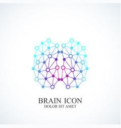 creative idea concept design brain logotype vector image