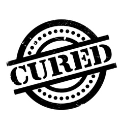 Cured rubber stamp vector