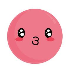 cute kawaii lovely emoticon vector image