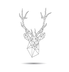 Deer head abstract vector image