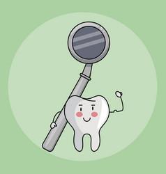dental care cartoons vector image