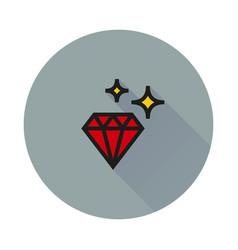 diamond icon on round background vector image